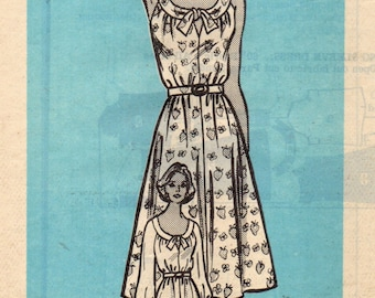 MARIAN MARTIN 9419 Mail Order Carefree Summer Dress ORIGINAL Outer Mailing Envelope Included 1970s