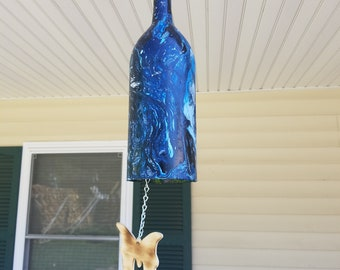 Wind chimes that are hydro dipped with paint for a camo look