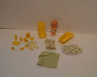 Vintage Barbie Fashion Sears Exclusive Barbie Doll Babysits 7882 Mattel 74 - 76