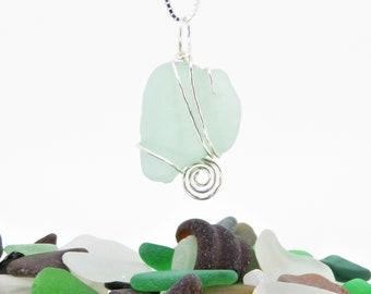 Seafoam Seaglass Necklace