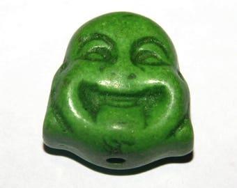 Buddha 1tetes green howlite 20 X 15 mm