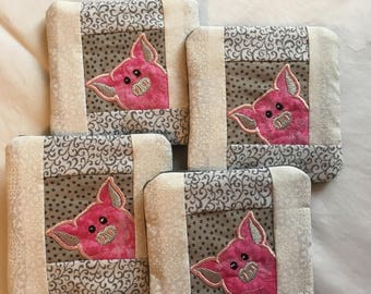 Peeking Pig Coasters