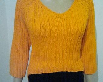 Orange cotton sweater from Bändchengarn