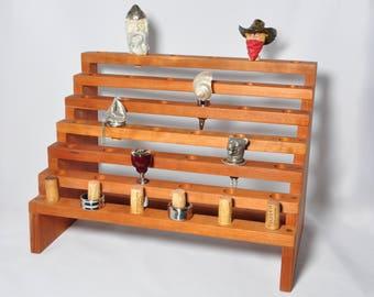 Wine stopper display, bottle stopper display, wood display, gift for him, Christmas gift, gift for men, gift for her, stocking stuffer