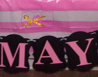 Victoria Secret Pink Banner, Pink Banner, Pink Birthday Banner, Banner, Pink Decorations