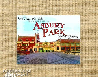 Save the Date Post Card Asbury Park Postcards