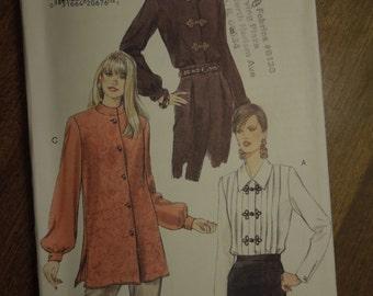 Vogue 9163, sizes 14-18, misses, womens, UNCUT sewing pattern, craft supplies, blouse, shirt