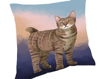 Pixie Bob Cat Throw Pillow
