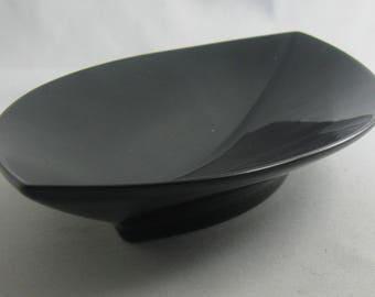 """Rosenthal Germany studio line. Small, black porcelain bowl """"Oasis"""". Design: Elsa Fischer-Treyden. 22 cm. Rosenthal porcelain noire. VINTAGE"""