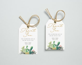 Thank You Tag, Wedding Thank You Tags, Gift Tags, Wedding Favor, Thank You Printable, Wedding Printable, Succulent Tags, Lane collection