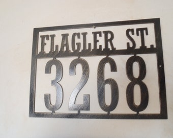 Metal House Number, Address Sign With Street Name, Any Numbers