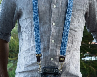 Camera Strap South African Shwe Shwe for DSLR, Mirrorless & Film Cameras - Hand Made Double Sided Linen/Cotton  * FREE SHIPPING *