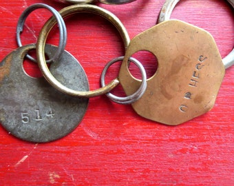 Vintage split key rings #14