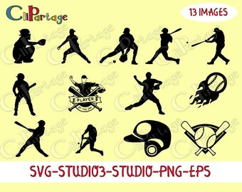 BASEBALL Images Svg,Digital Image, Baseball Images, SVG silhouettes, Decal Svg files for Silhouette, Cricut, Instant digital download