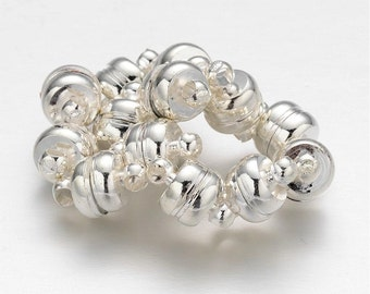 Silver Magnetic Clasp - Set of 4 - Medium - #HPC130