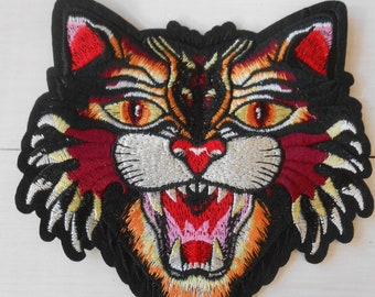Iron-on Tiger Large Embroidered Patch Applique