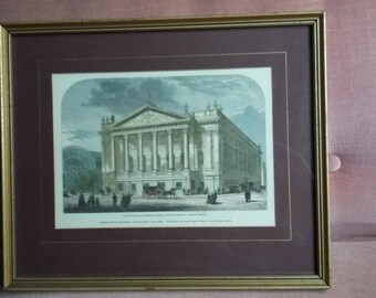 Vintage Colour Print The New Italian Opera House Covent Garden