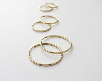 Thin GOLD hoops, High quality gold hoops, 14k gold filled hoops, Gold hoops, Simple Hoop Earrings, tiny gold hoops, gold wire hoop earrings