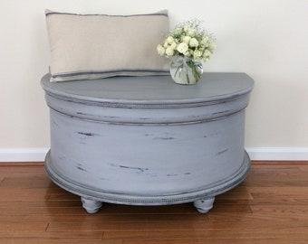 Hand Painted Grey Cedar Chest, Hope Chest, Blanket Chest, Coffee Table, Farmhouse Decor