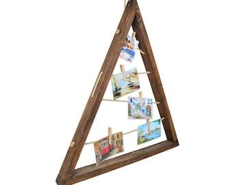 Wooden Triangular Drawing Painting