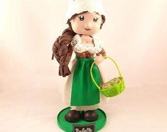 Doll foam Provencal decoration, handmade