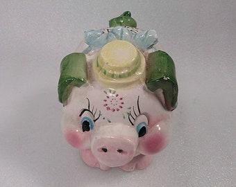 Vintage Ceramic Panoramic Japan Piggy Bank