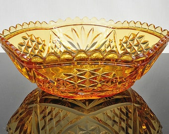 Art Deco Hexagonal Golden Bowl