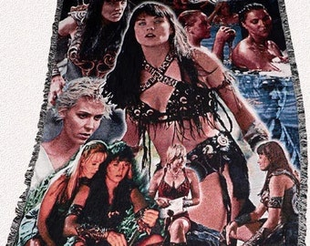 Xena Inspired Cast Throw Blanket