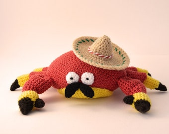 Mexican Crab Crochet Pattern, Crab Amigurumi Pattern, Crochet Crab Pattern, Amigurumi Crab Crochet Pattern, Mexican Crochet Pattern