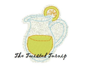 Lemonade Feltie Designs Summer Feltie Felt Felty Embroidery Design 5x7 Instant Download Digital File