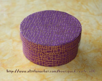 9 cm diameter round jewelry box