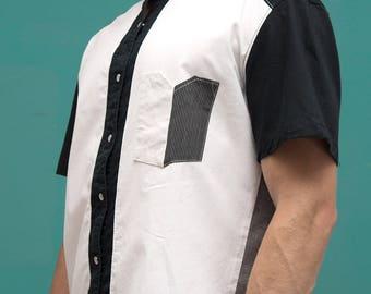 Upcycled Shirt - White Ash