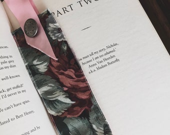 Fabric Bookmark (Vintage Rose)