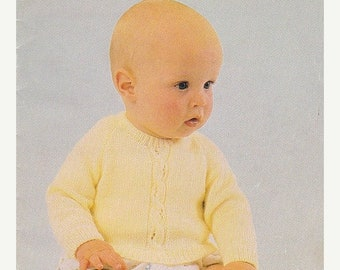 ON SALE Patons 3 Ply  Feathersoft  Knitting Designs for Baby Pattern No 456 - Vintage 1970's