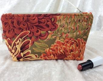 Handmade Zipper Case Zip Pouch fabric bag pencil case Philip Jacobs Kaffe Fassett Japanese Chrysanthemums