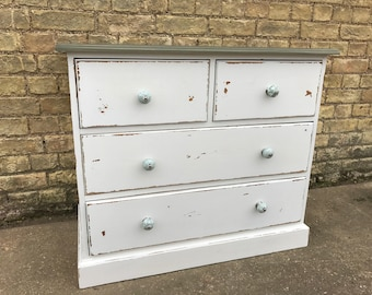 A Hand Painted Pine Chest of Drawers.