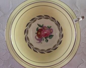 Paragon Platinum Wreath China Tea cup and Saucer Teacup Set