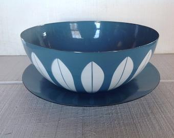 "Mid Century Catherine Holm Scandinavian 11"" bowl platter vintage Catherineholm Lotus Enamel Bowl Pastel Blue Norway enamelware Catherineholm"