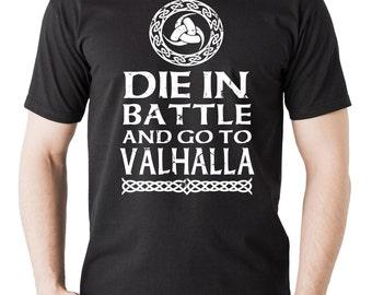 Odin Sign T-Shirt Valhalla T-Shirt Nordic Style Shirt