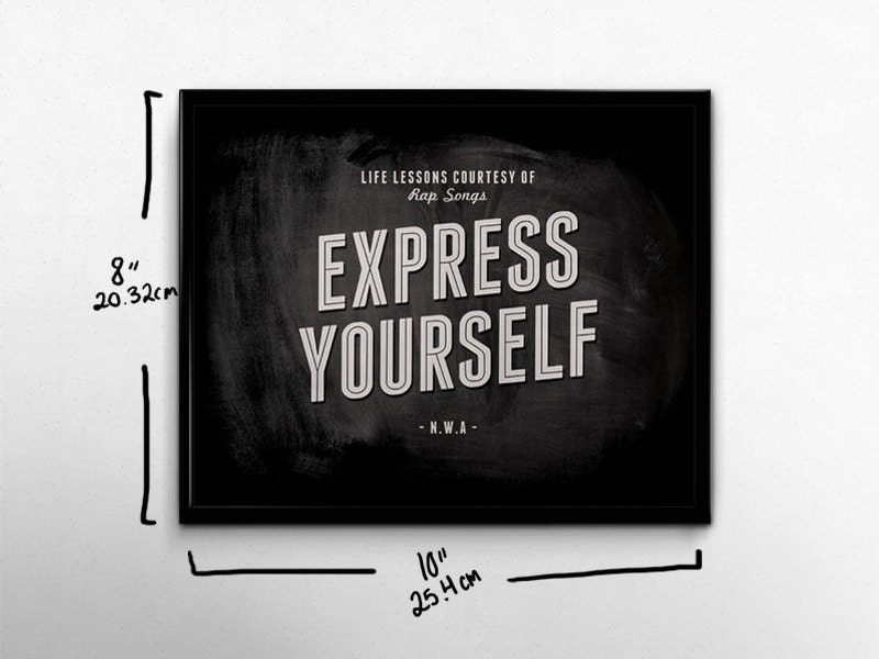 Lyric rap songs about money lyrics : Rap Wall Art Express Yourself NWA Life Lessons 90s Hip Hop