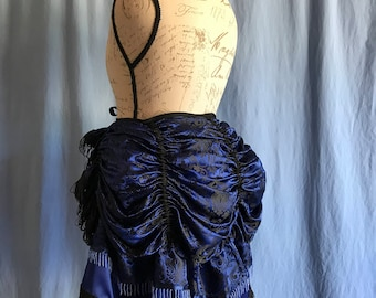 Bustle-Yaya Han cosplay fabric-beautiful royal blue-Steampunk-Victorian-Burlesque-Costume