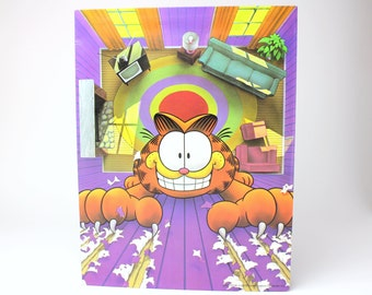 Vintage 1978 Mead Portfolio Folder Garfield Claws in the Wall - United Feature Syndicate