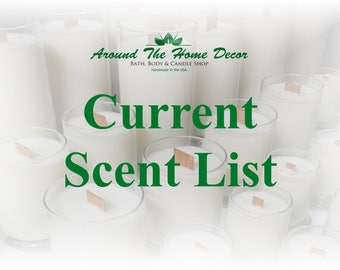 Around The Home Decor Current Scent List
