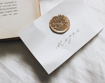 Wax Seal Place Cards / Place Cards / Escort Cards / Simple Place Cards / Cardstock Place Cards