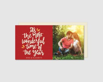 Printable Holiday Card - Wonderful Time of the Year