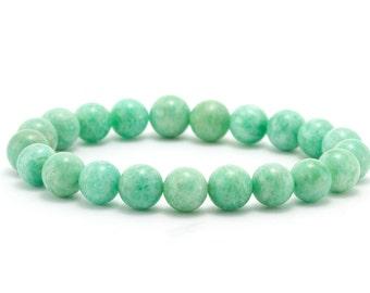 Amazonite Bracelet/ Teal Bracelet/ Aqua Stone Bracelet/ Beach Bracelet/ Amazonite Jewelry