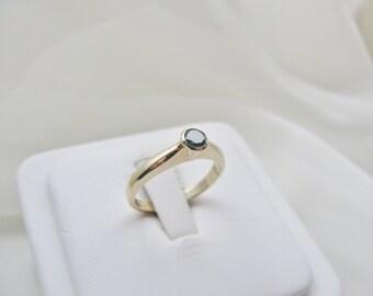 Bezel Diamond Ring in 14K Gold