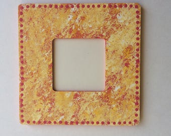 Speckled Dotted Instagram Size 4x4 Hand Painted Picture Frames