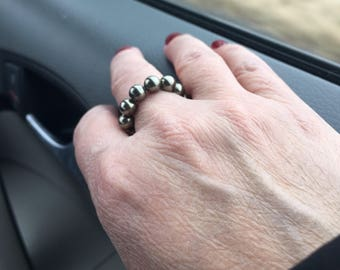 Pyrite Stackable Beaded Ring
