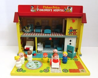 Fisher Price Vintage Play Family Children's Hospital #931